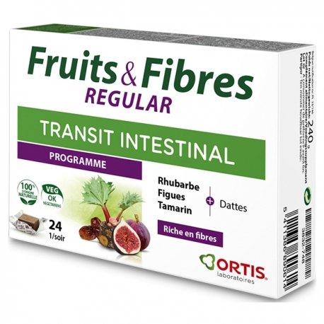 Ortis Fruits Fibres Regular Transit Intestinal 24 Cubes