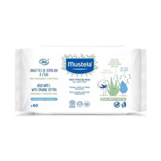 Mustela Lingettes Coton Bio À L'eau 1200x1200